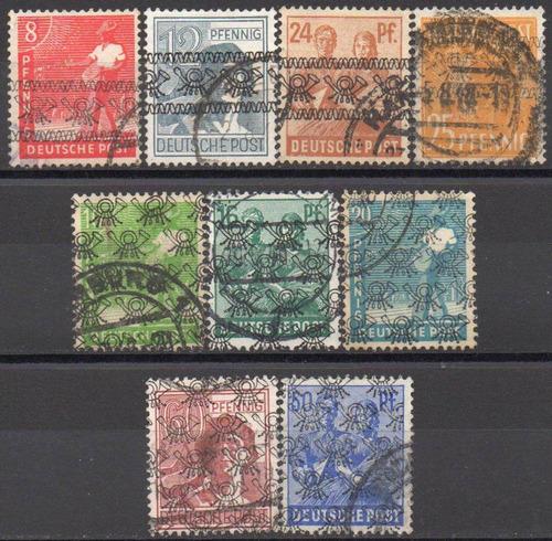 alemanha - zona americana e inglesa - 1948 - tipo 1 e 2