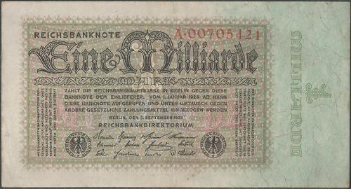 alemania, 1 millardo mark 5 sep 1923 p114