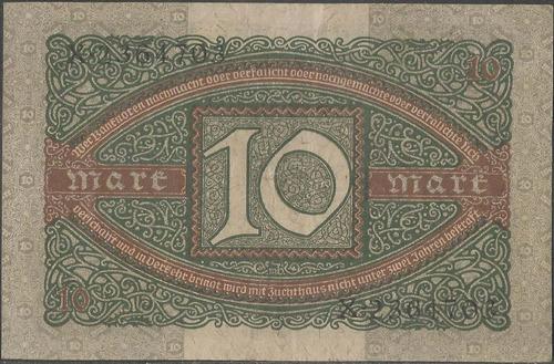 alemania 10 mark 6 feb 1920 p67a