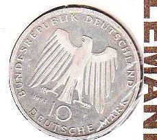 alemania 10 mark plata 1993