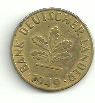 alemania 10 pfennig año 1949 f
