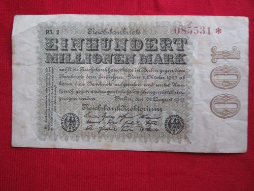 alemania 100 millones de marcos 1923