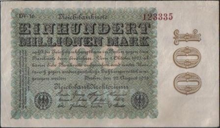 alemania, 100000000 mark 22 ago 1923 p107d