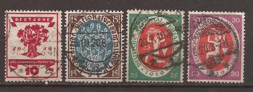alemania 1919 serie asamblea nacional  usados 6 u$d - 102