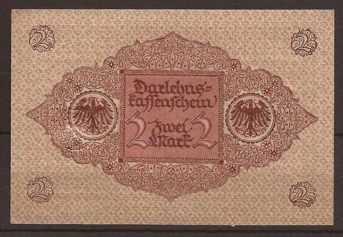 alemania 1920 billete de 2 marcos nuevo