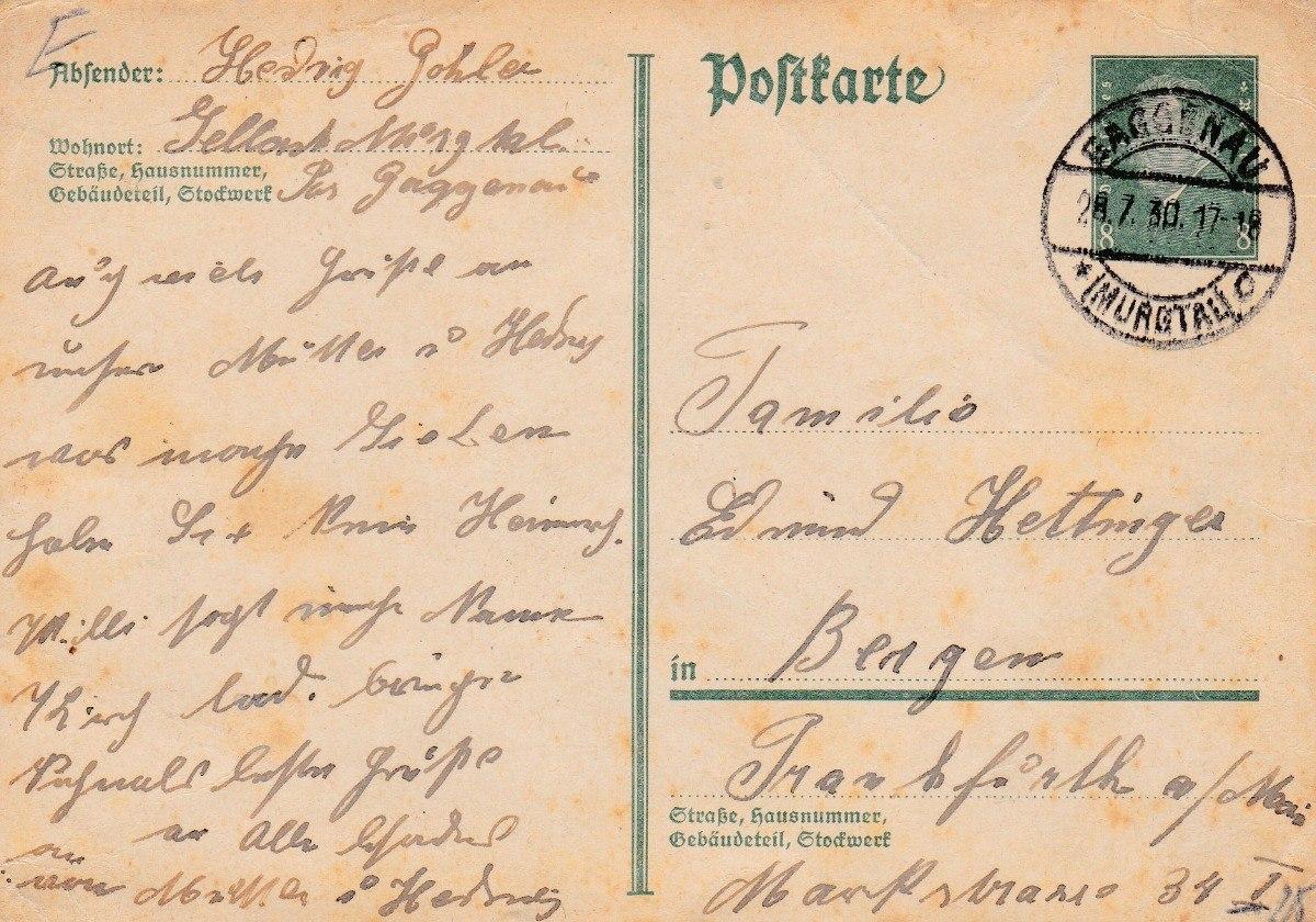 alemania 1930 carta postal con sello impreso e7 56 35 en mercado