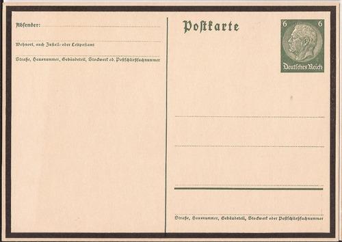 alemania 1934 postkarte nueva fallecimiento hindenburg - 096