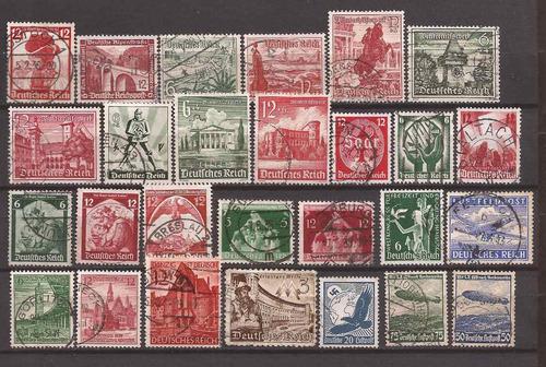alemania 1935 - 27 sellos usados varios u$d