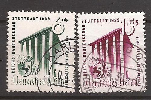 alemania 1937 edificio de expocición 2 sellos usados - 085