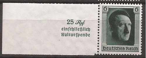 alemania 1937 sello de bloque del fuhrer mint 8 u$d