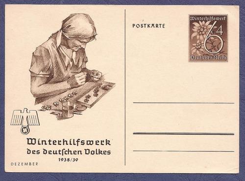 alemania 1939 postkarte diciembre nueva - 238