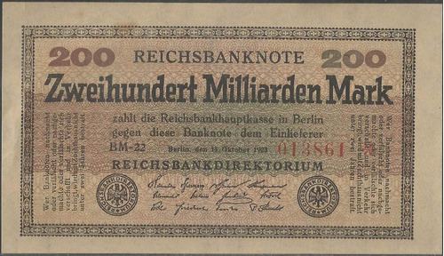 alemania, 200 millardos mark 15 oct 1923 p121a