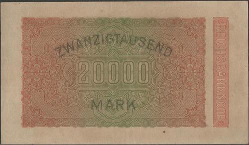 alemania, 20000 mark 20 feb 1923 p85a