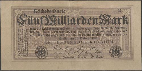 alemania, 5 millardos mark 22 oct 1923 p123a