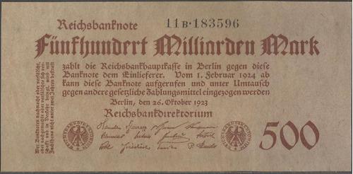 alemania, 500 millardos mark 26 oct 1923 p127b