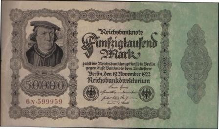 alemania 50000 mark 19 nov 1922 p79