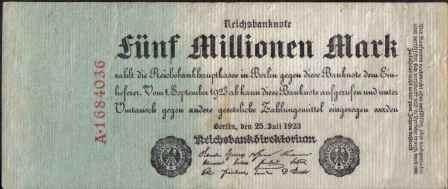 alemania, 5000000 mark 25 jul 1923 p95