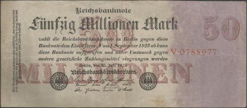alemania 50.000.000 mark 25 jul 1923 p98a