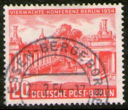 alemania berlín sello usado conferencia consejo aliado 1954