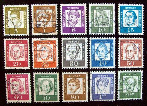 alemania berlín, serie mi 199-213 personalidades usada l4606