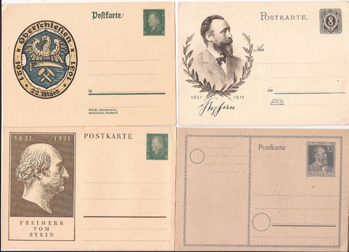 alemania cuatro postkarte nuevas --super oferta!!!!! - 184