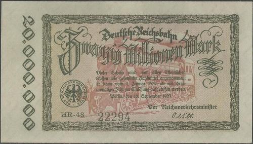 alemania deutsche reichbahn 20000000 mark 18 sep 1923 ps1015