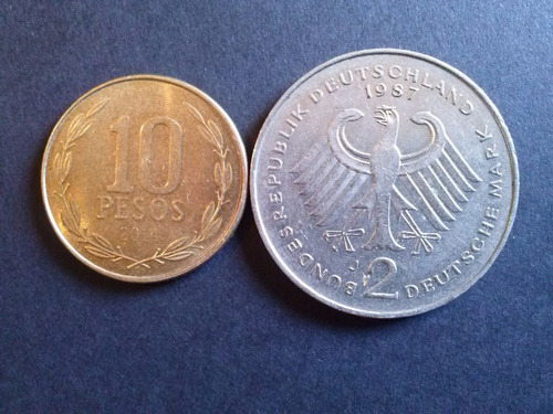 alemania federal 2 mark konrad 1987 ceca j níquel (c18)