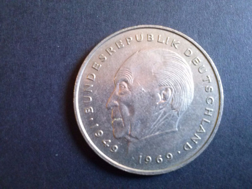 alemania federal 2 mark konrad adenauer 1982 ceca f  (c25)