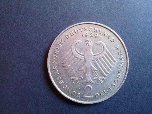 alemania federal 2 mark ludwig 1989 ceca f níquel (c25)