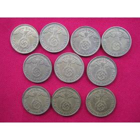 Alemania Nazi  Tercer Reich 10 Reichspfennig Al Br 1937 A 39
