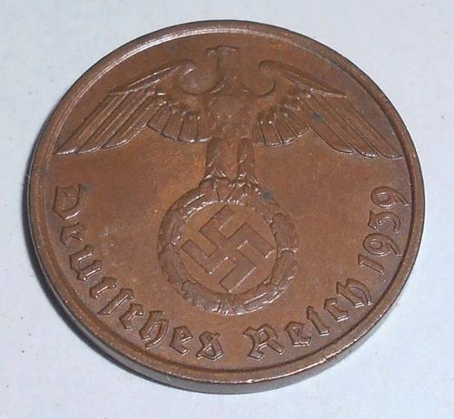 alemania nazi espect. 2 reichspfenig 1938 / 1939  t. reich