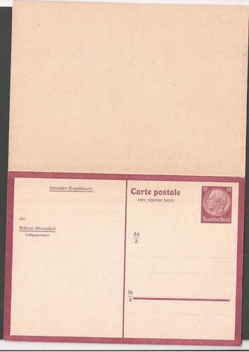 alemania postkarte nueva retorno pago a brüssel