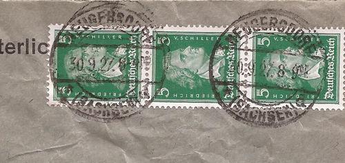 alemania reich 1927 sobre comercial de neugersdorf a eibau