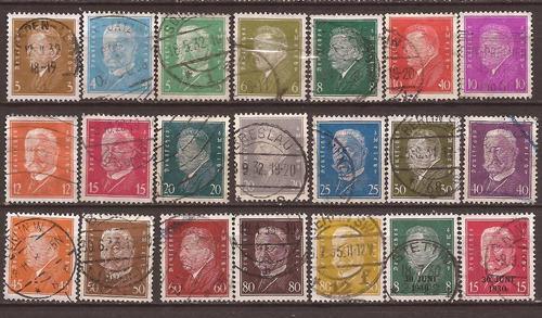 alemania reich 1928 serie 21 sellos usados 22 u$d - 003