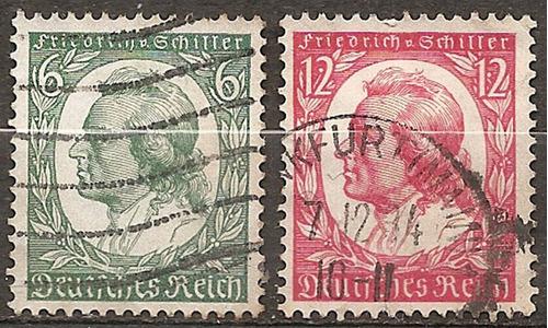alemania reich año1934 serie yvert n°522/3 usadas