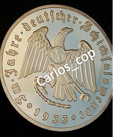 alemania reick reichsmark bañada en oro
