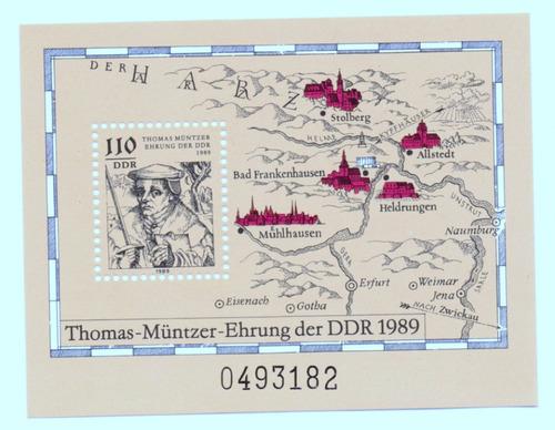 alemania republica democratica 1989 * thomas müntzer *bloque