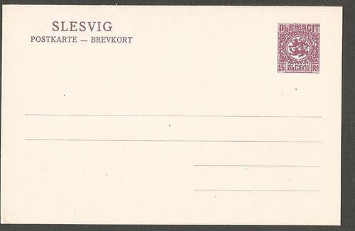 alemania slesvig postkarte del plebiscito nueva - 034