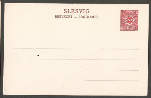 alemania slesvig postkarte del plebiscito nueva - 521