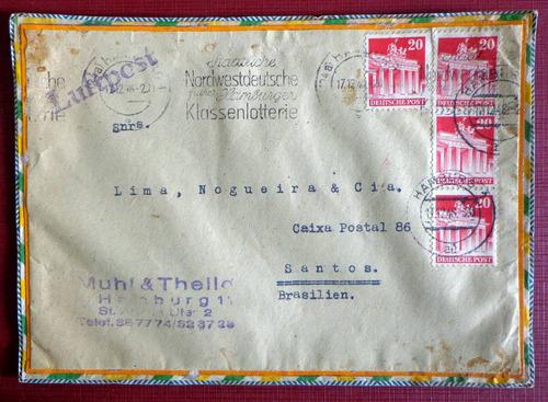 alemania, sobre aéreo a brasil bandeleta 1948 l8086