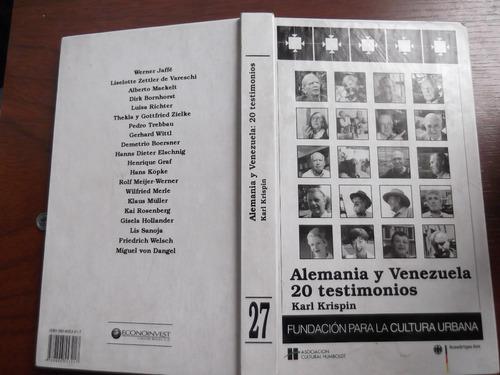 alemania y venezuela 20 testimonios karl krispin tapa dura