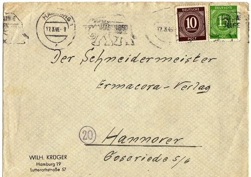 alemania zona interaliada año 1948 franqueo mixto publicidad