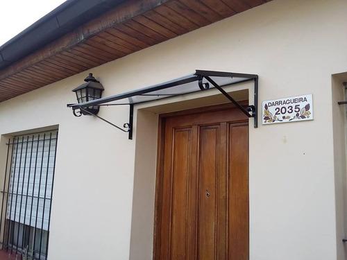 alero hierro y policarbonato para puertas ventanas 100 x 50