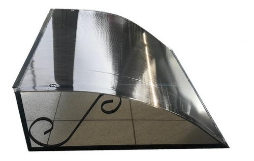 alero policarbonato curvo para puertas ventanas 80 de ancho