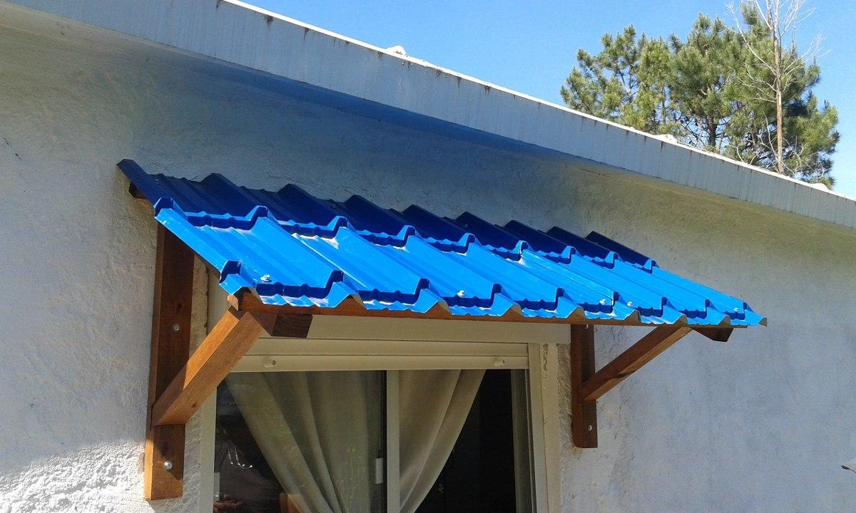 Aleros con mensulas madera o hierro teja o imitacion for Canaletas para techos de madera