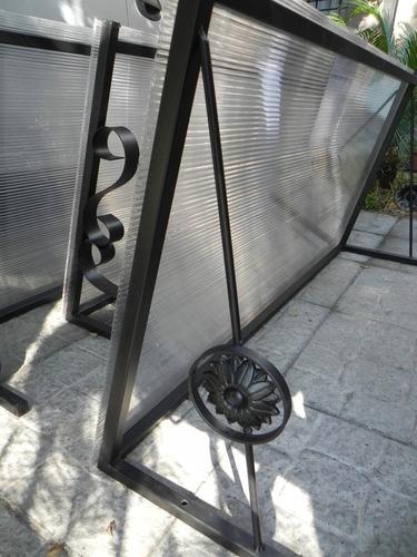 aleros de policarbonato, techos para puertas y ventanas