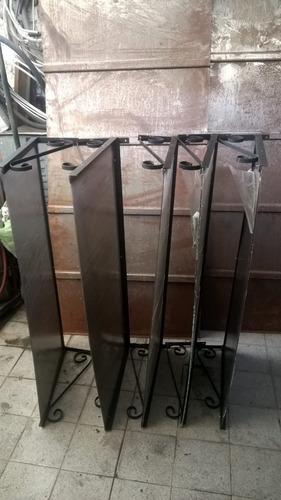 aleros para puertas y ventanas en hierro y policarbonato