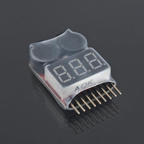 alerta de bateria baixa e testador de voltagem 1-8s - aero