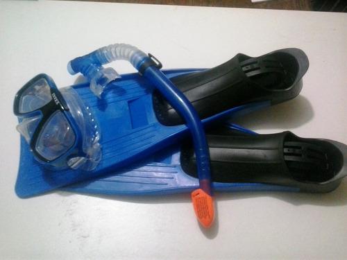 aletas talla 38/40 mas mascara mas snorkel,