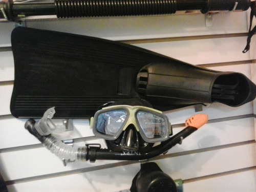 aletas talla 41/45 mas mascara mas snorkel